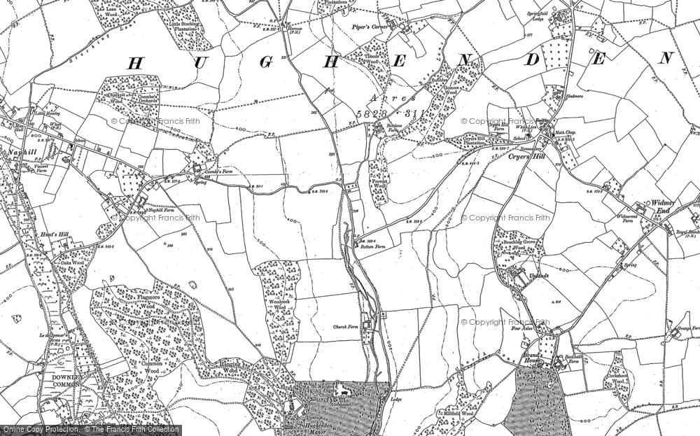 Old Map of Hughenden Valley, 1897 in 1897