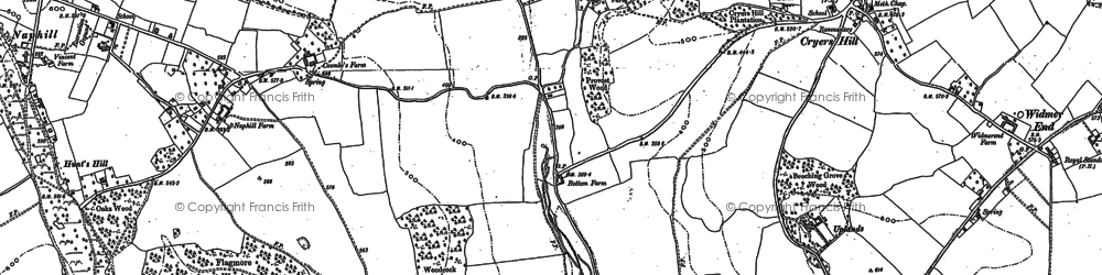 Old map of Hughenden Valley in 1897