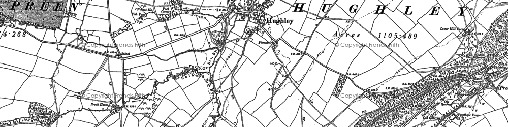 Old map of Kenley in 1882