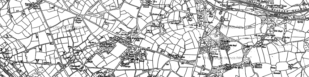 Old map of Kerley Downs in 1879
