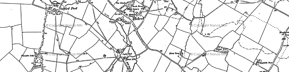 Old map of Aspley Hall in 1900