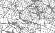 Old Map of Hulland Ward, 1880