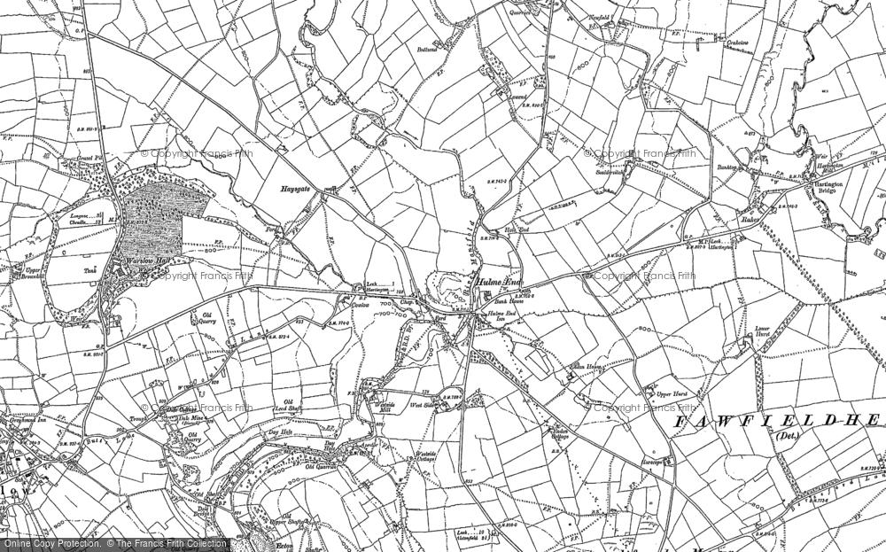 Old Map of Historic Map covering Westside Mill in 1897