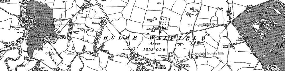 Old map of Wornish Nook in 1900