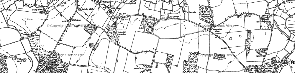 Old map of Willingham Hall in 1883