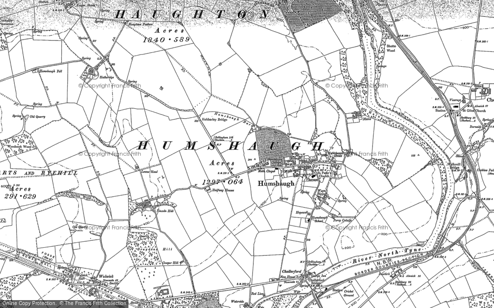 Old Map of Historic Map covering Lincoln Hill in 1895