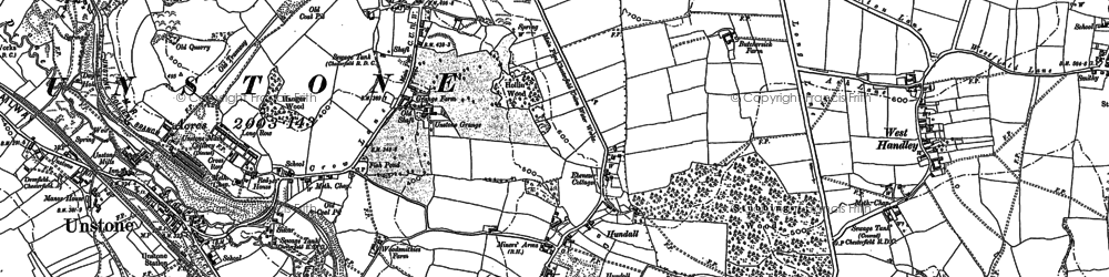 Old map of Hundall in 1876