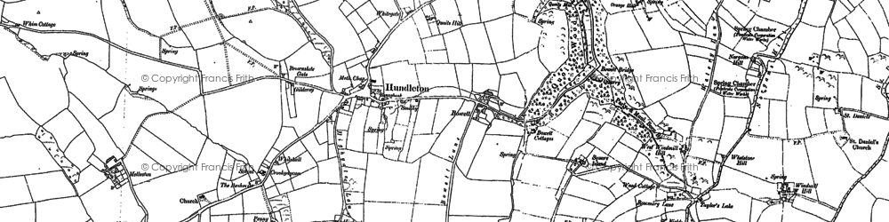 Old map of Hundleton in 1906