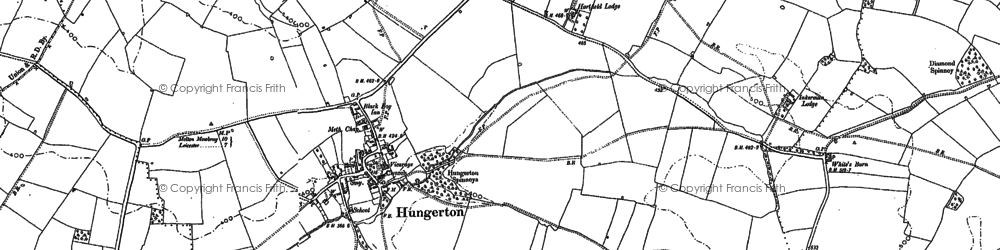 Old map of Baggrave Hall in 1884