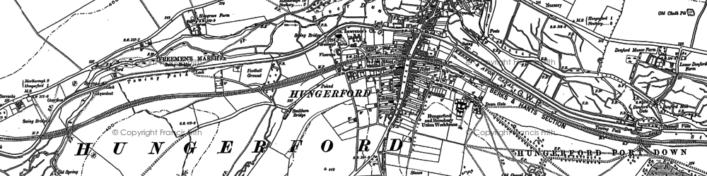 Old map of Hungerford in 1899