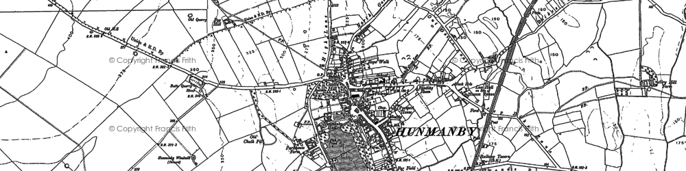Old map of Hunmanby in 1889