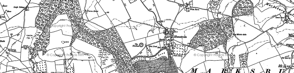 Old map of Whidcombe Brake in 1882