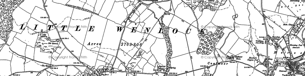 Old map of Willowmoor in 1882