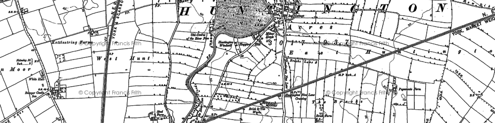 Old map of Huntington in 1890