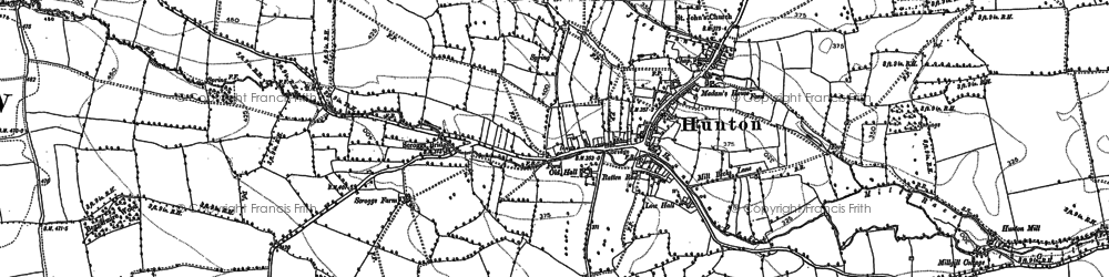 Old map of Wyvill Grange in 1891