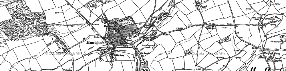 Old map of Bampton Down in 1887