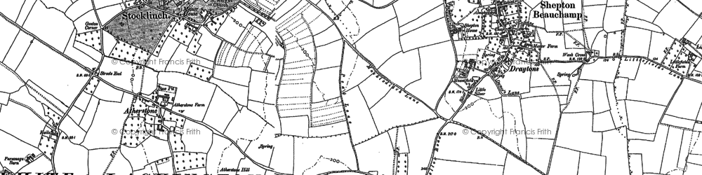 Old map of Seavington St Michael in 1886
