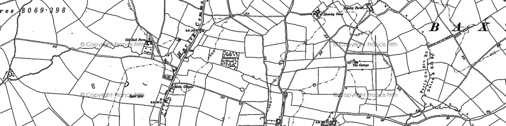 Old map of Hurley in 1886