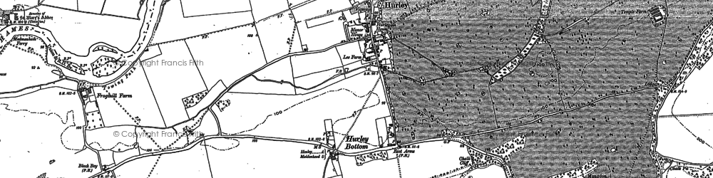 Old map of Hurley in 1910