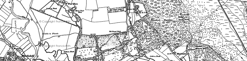 Old map of Avon Common in 1907