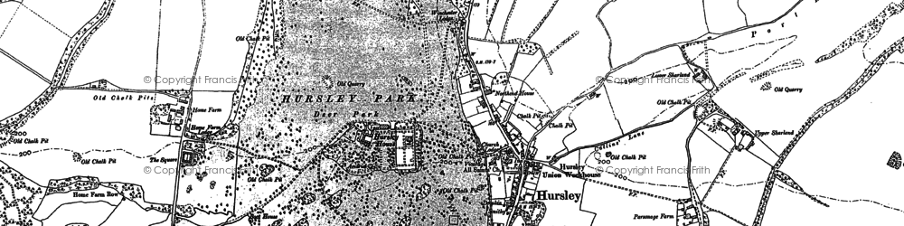 Old map of Hursley in 1895