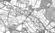 Old Map of Hurst, 1886