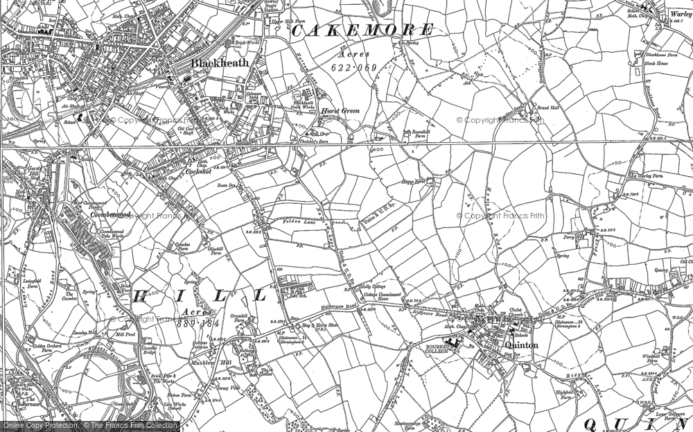 Old Map of Hurst Green, 1902 in 1902