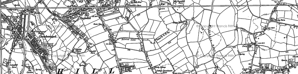 Old map of Hurst Green in 1902