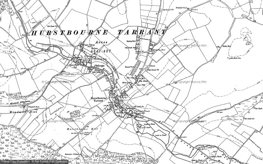 Old Map of Hurstbourne Tarrant, 1894 - 1909 in 1894