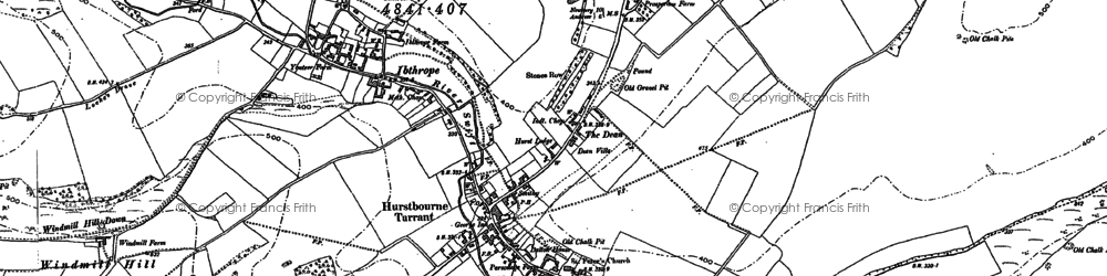 Old map of Hurstbourne Tarrant in 1894