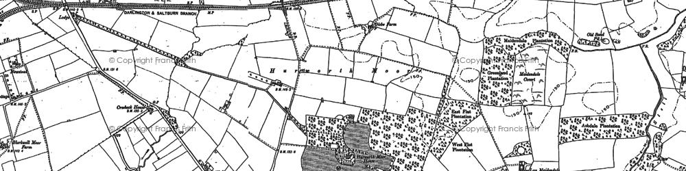 Old map of Ashfield in 1896