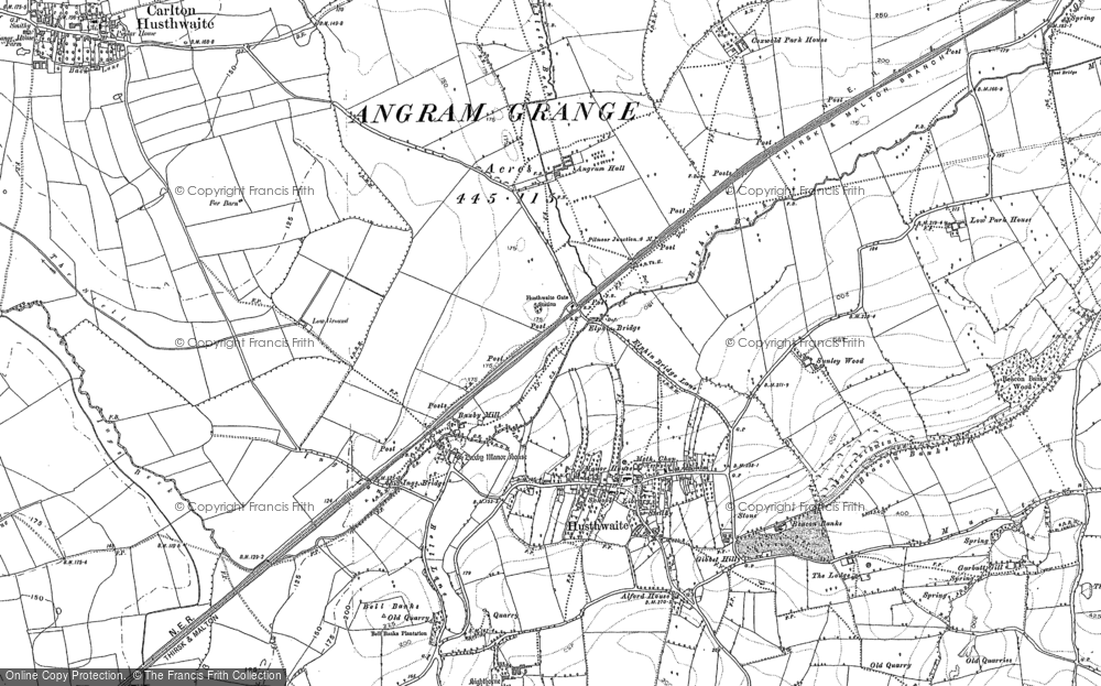 Old Map of Historic Map covering Acaster Hill in 1889