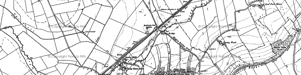 Old map of Alford Ho in 1889