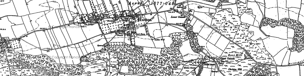 Old map of Airfield (disused) in 1884