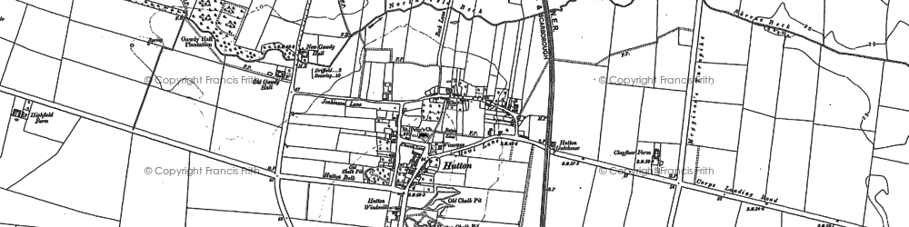 Old map of Hutton in 1890
