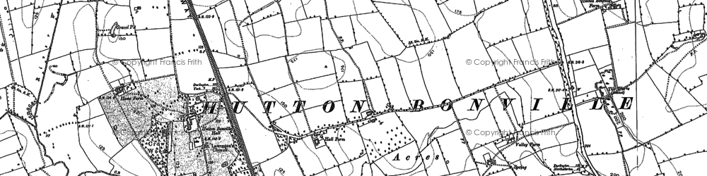 Old map of Lazenby Grange in 1891