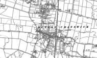Old Map of Hutton Cranswick, 1890