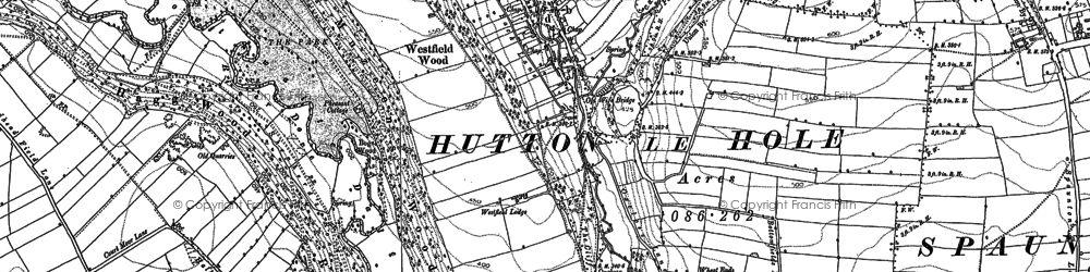 Old map of Wheat Lund in 1853