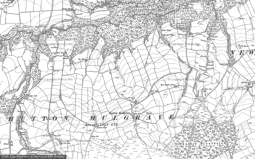 Old Map of Historic Map covering Allerton Head in 1893