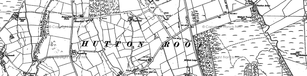 Old map of Thwaite Hall in 1899