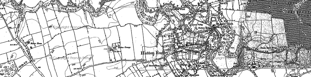 Old map of Hutton Rudby in 1892