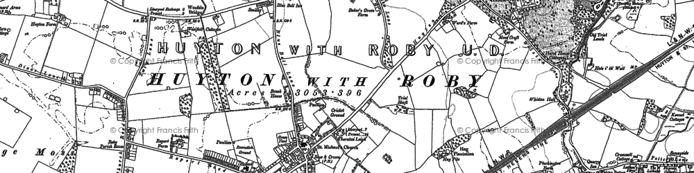 Old map of Longview in 1891