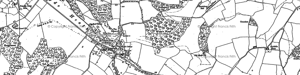 Old map of White's Wood in 1897