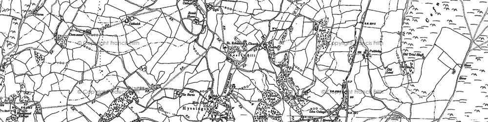 Old map of Bagbury in 1882