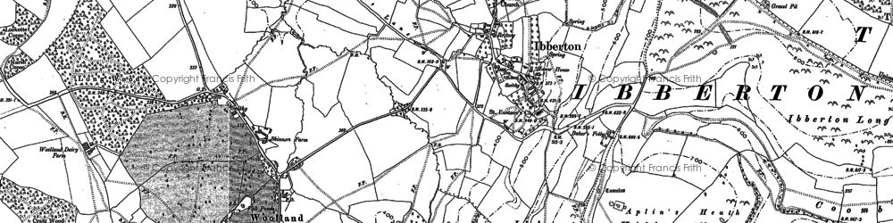 Old map of Ibberton in 1886