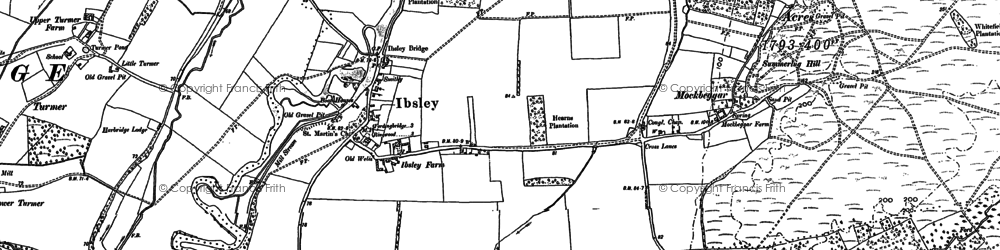 Old map of Ibsley in 1907
