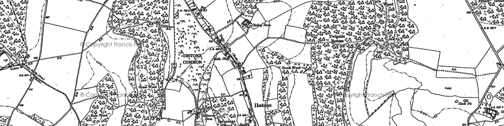 Old map of Ibstone in 1897