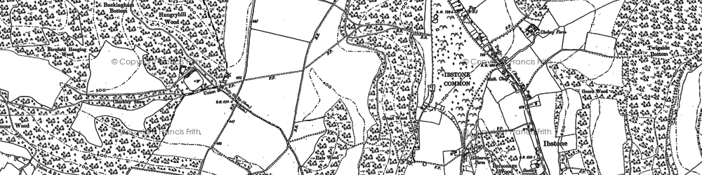 Old map of Wormsley Park in 1897