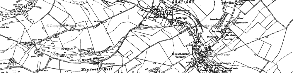 Old map of Windmills in 1894