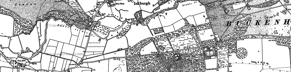 Old map of Ickburgh in 1883